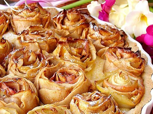 яблочные розы пирог
